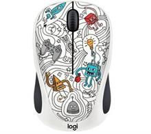 Logitech Doodle Collection M238 TECHIE WHITE EMEA IN Wireless Mouse